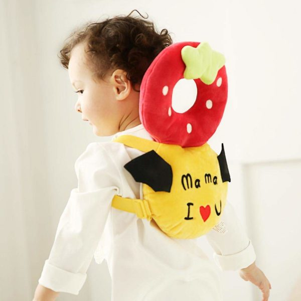 Baby head protector strawberry